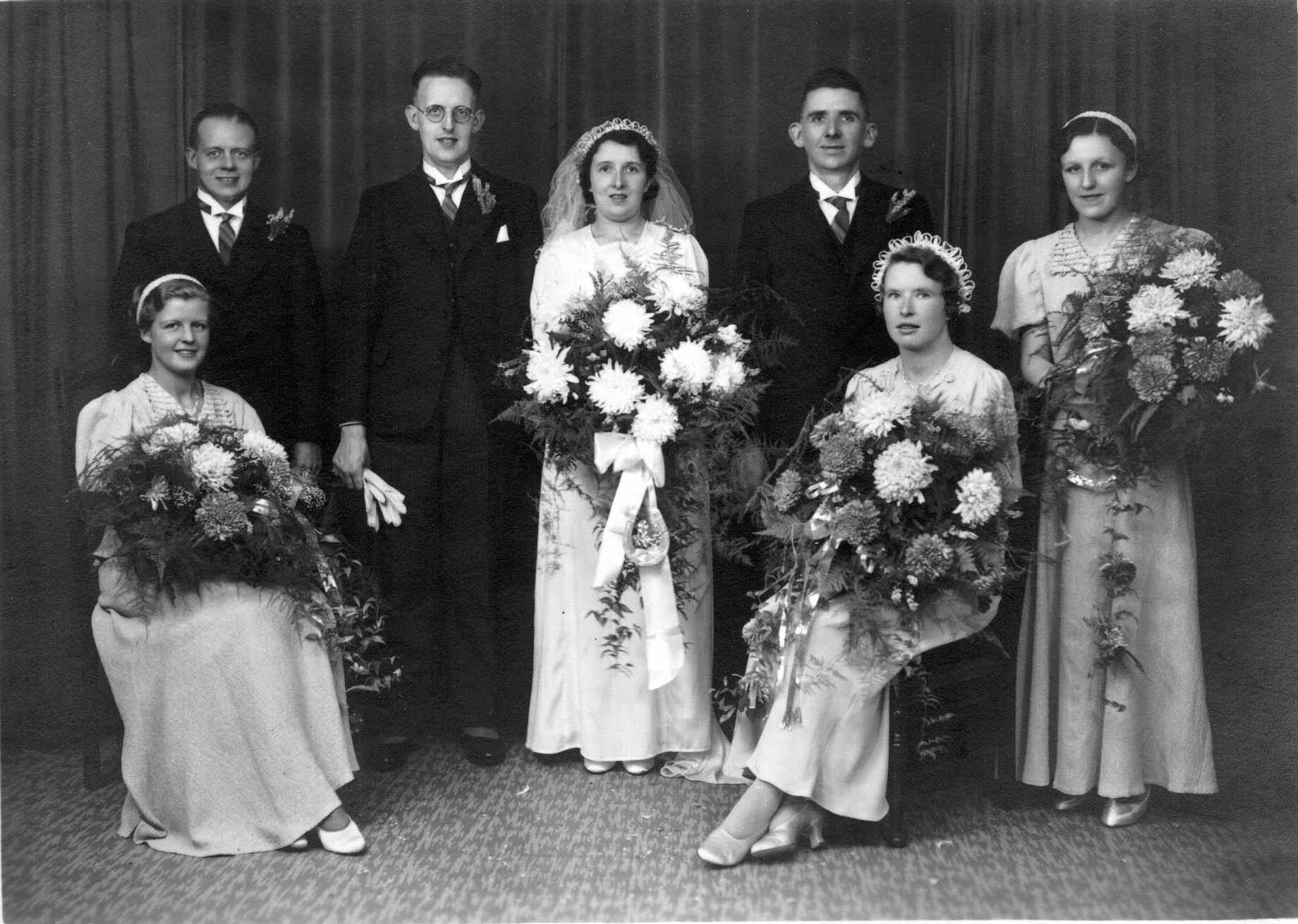 Photos anciennes de mariage - Photo de groupe mariage ...